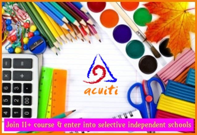 Acuiti Tuitions offer the course that covers the required syllabus of Verbal Reasoning, Non-Verbal Reasoning, Math's & English >> http://www.acuitituitions.co.uk/courses/