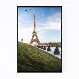 Noir Gallery Eiffel Tower Paris France Urban Framed Art Print (Black – 20 x 24)