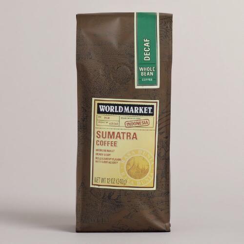 One of my favorite discoveries at WorldMarket.com: 12-oz. World Market® Decaf Sumatra Coffee, Set of 6