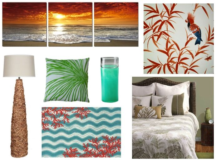 Tropical coastal decorating ideas theme vacation house for Home craft expressions decor