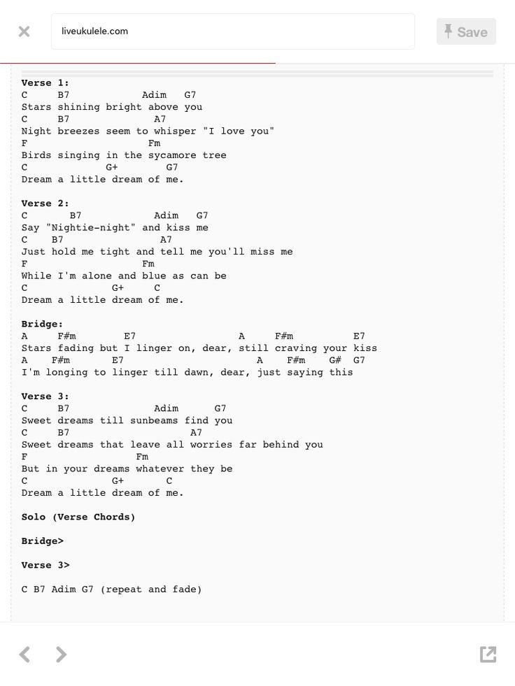 Dream A Little Dream Guitar Chords Images - basic guitar chords ...