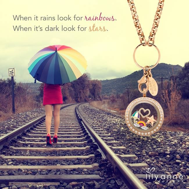 When it rains look for rainbows. When it's dark look for stars. #LilyAnneDesigns #PersonalisedLockets #CapturingMoments #FreeToBeMe