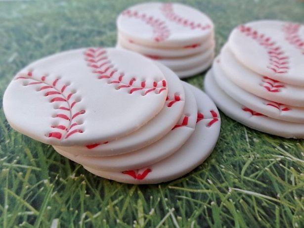 Baseball Balls Edible Fondant Birthday Cupcake Cake Toppers by TopCakeDecors on Gourmly