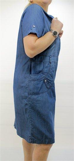 Kısa kollu Kot Elbise