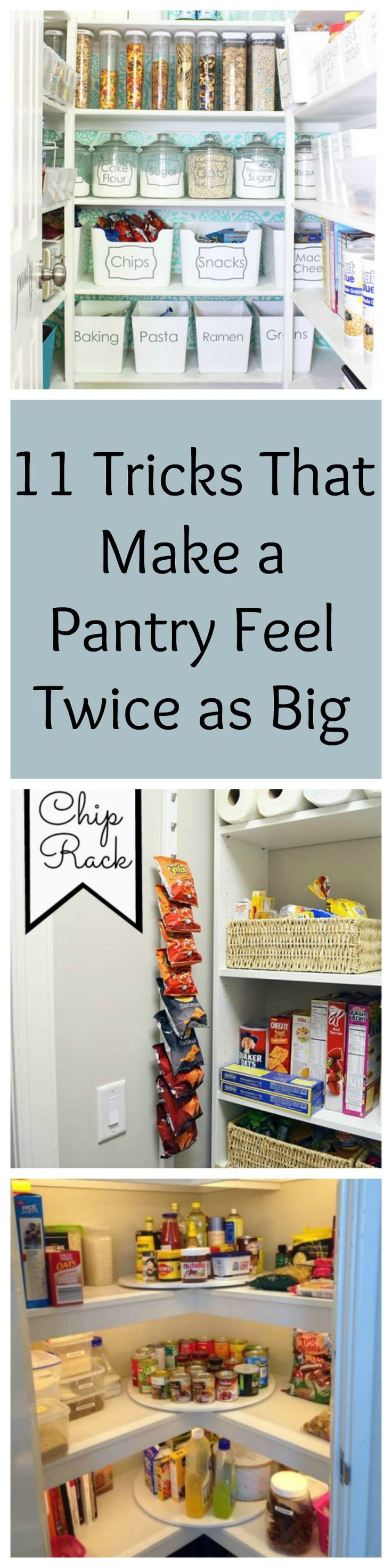 Do you have a small pantry space? Try these tricks for gaining extra storage space in your pantry and keep it looking organised!