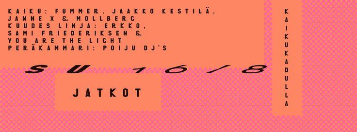Jaakko Suomalainen for Club Kaiku