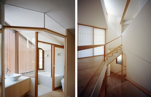 Oblique House B byCell Space Architects, Kanagawa Prefecture, Japan.