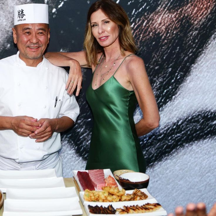 """10k Likes, 121 Comments - Carole Radziwill (@caroleradziwill) on Instagram: """"What can I say, I have a thing for chefs. 😜 Celebrating Master Chef Katsuya Uechi at Baha Mar.…"""""""