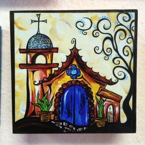 Retro Art By Jan Pop Art Sedona AZ Chapel Church Cross Santa Fe Painting print
