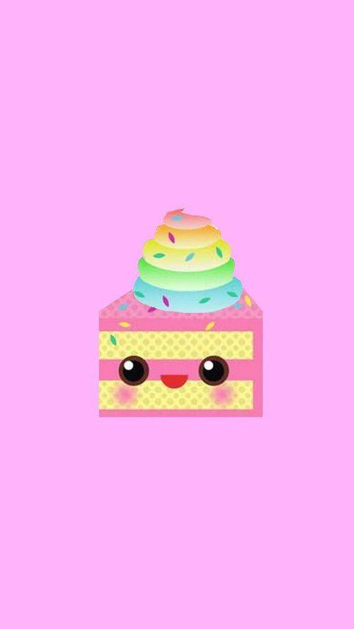 Image via We Heart It https://weheartit.com/entry/127672179/via/22479432 #cake #cute #cuteface #kawaii #phonewallpaper