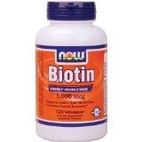 NOW Foods Biotin 5000mcg, 120 Vcaps (Health and Beauty)By Now Foods