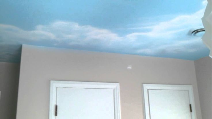 Greg Hayes paints sky ceiling mural in nursery