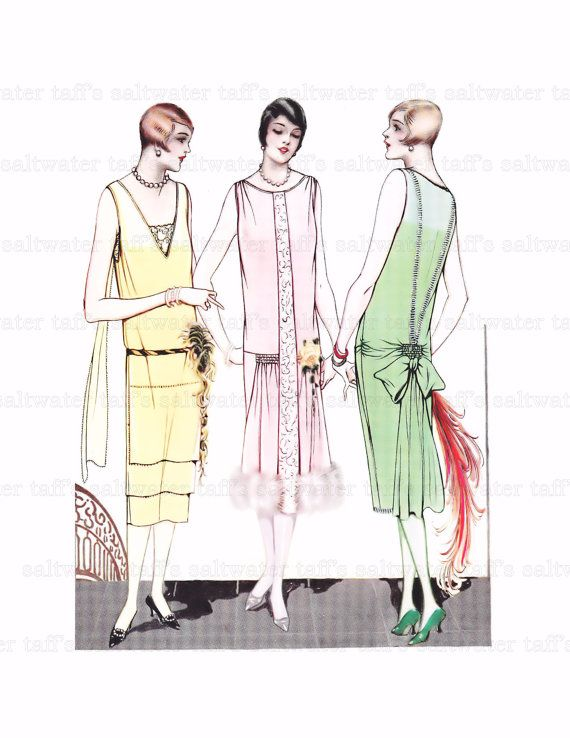 1920's Art Deco Girls Digital Download image for fabric transfer  tote, invitations, cards, decoupage burlap Phryne Fisher  Vintage Clothing