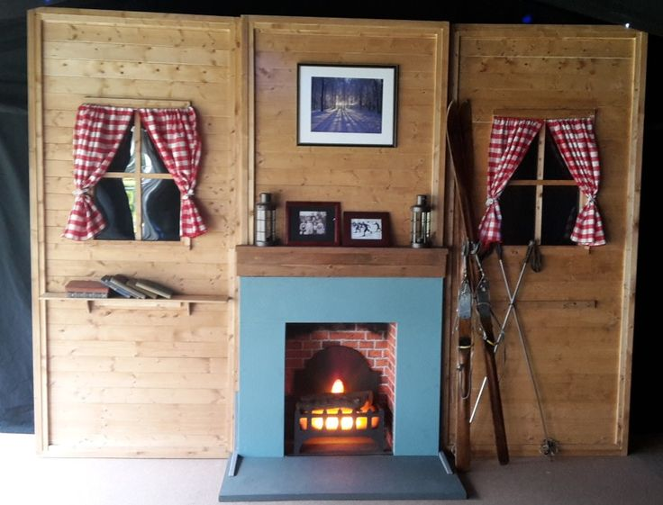 """Private marquee   Ski lodge themed prop in a marquee for a """"Sound of Music"""" themed party by www.stressfreehire.com #venuetransformers"""