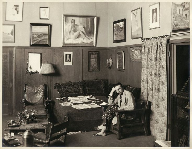 The infamous Clara Bow nude painting proudly displayed by Bela Lugosi in his Hollywood home from 1929 until his death in 1956.
