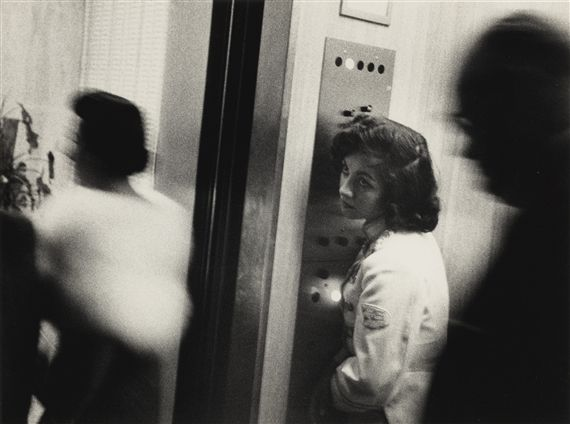 Artwork by Robert Frank, MIAMI (ELEVATOR, MIAMI BEACH HOTEL), Made of photograph