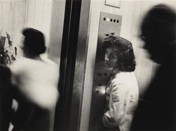 Artwork by Robert Frank, MIAMI (ELEVATOR, MIAMI BEACH HOTEL), Made of photograph