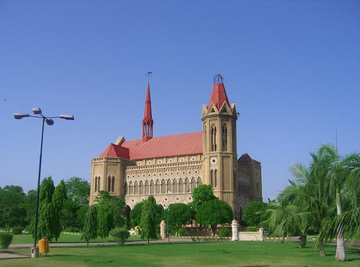 Beautiful Frere Hall in the center of Karachi, Pakistan