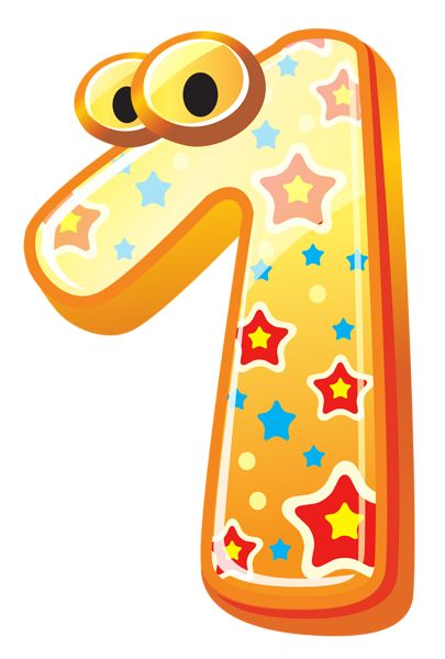 Cute Number One PNG Clipart Image