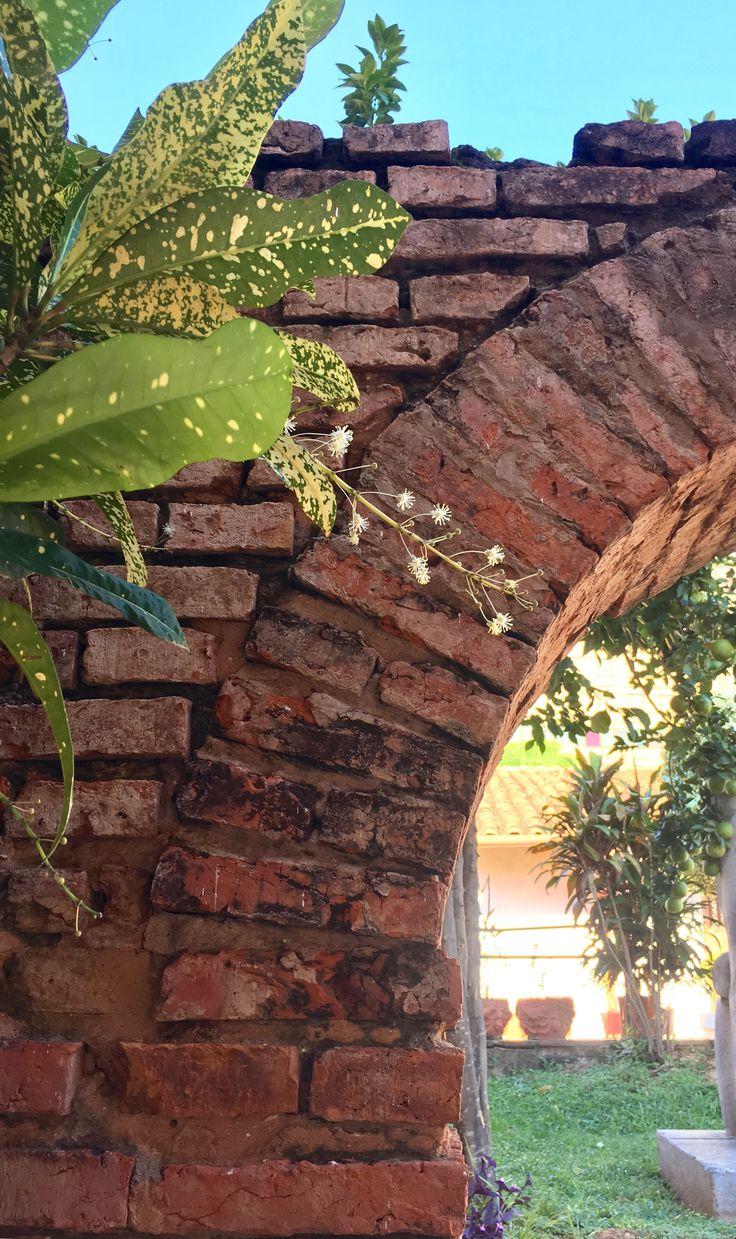 Detalle de un arco antiguo de Asunción-Paraguay ( patio de casa Viola)