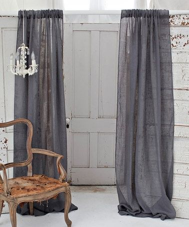 a perfect gray: Folks, Its Curtains. Gray Curtains.