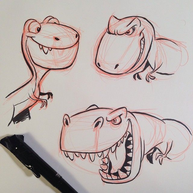 by ericscales13 —- More Dino's today, just for fun. #dinosaur #breaksketch #brushpen #cartoon January 29, 2015 at 12:19AM via: http://ift.tt/1AhcOoT