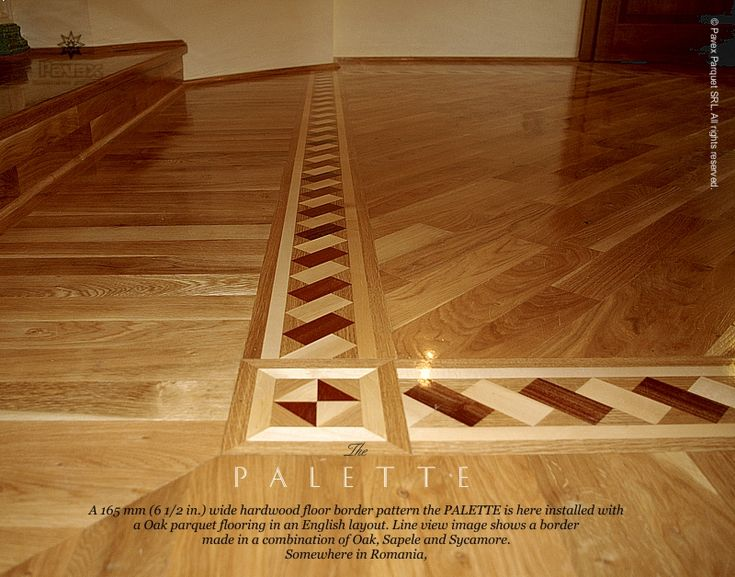 Wood flooring with inlay floor border inlay Hardwood floor designs borders