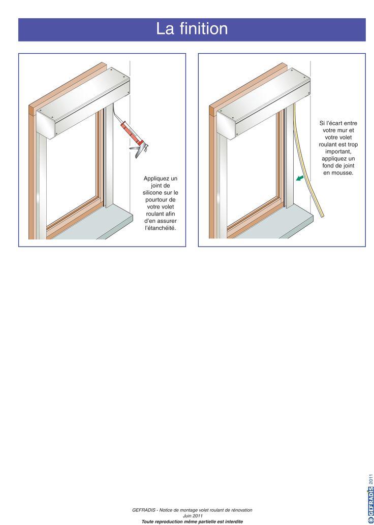Page 7.  La notice Gefradis vous aide à poser votre volet roulant rénovation (à coffre extérieur) vous-même.