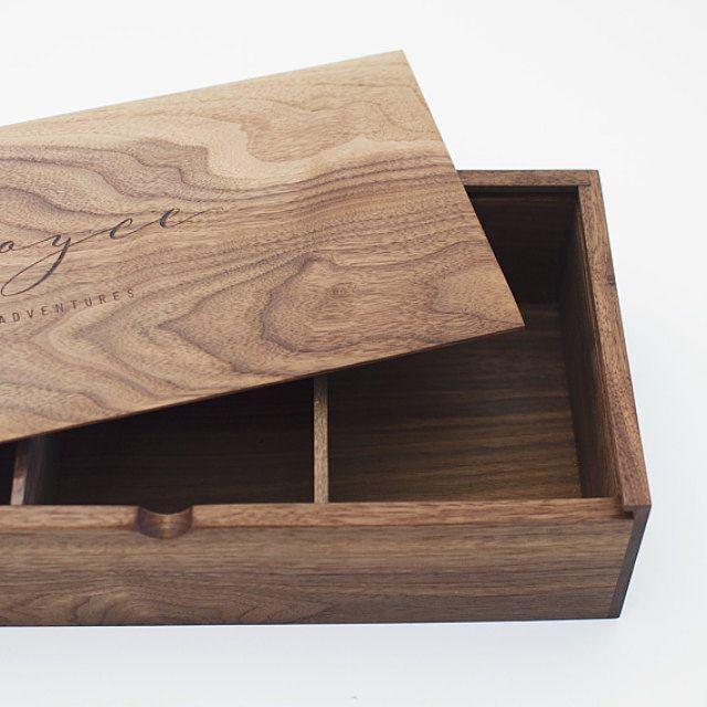 Compartment Box - Photo Proof Box - Wooden Box - Box for Photography - Box for Photographer
