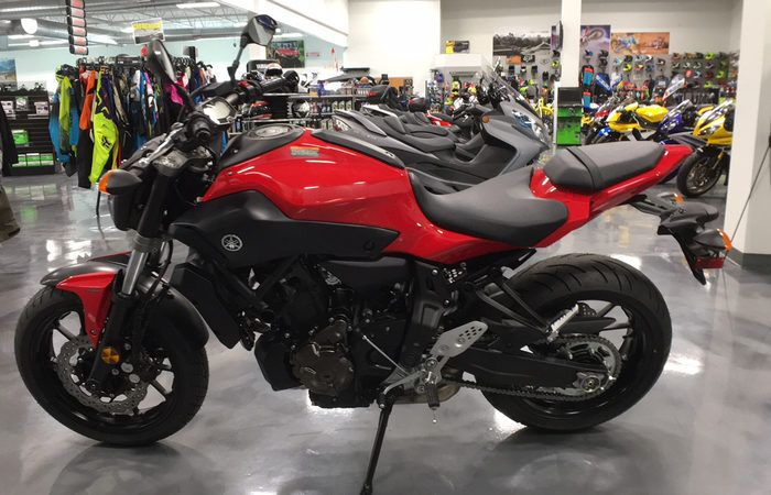 Deal of the Day: 2017 Yamaha FZ-07 - Available from Freedom Powersports Decatur. This brand new red Yamaha FZ is available for only $7,199!  Be sure to click the link below and link and share for a new deal each day!