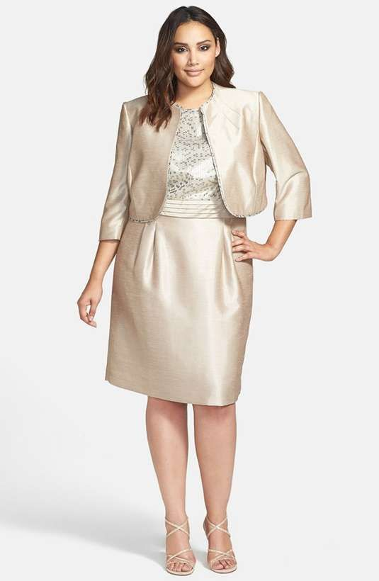 Tahari Jacquard Shantung Dress Jacket Plus Size Available At McLaughlin This Might Be Good Wedding Wear