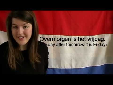 Learn Dutch - the days of the week