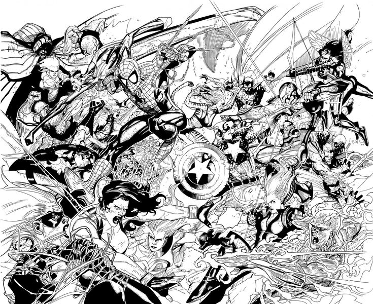Ultimate Avengers Coloring Pages : Best comic book coloring pages images adult