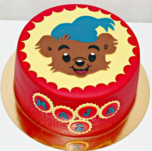 Example of Bamse Birthday Cake decoration