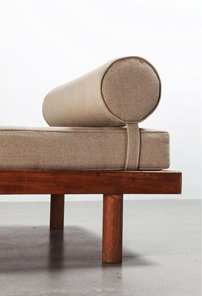 CHARLOTTE PERRIAND, a single bed, 1956-59. Material pine wood.