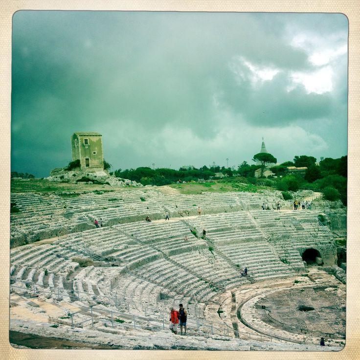 Greek theatre , V sec B.C. Siracusa, Italy