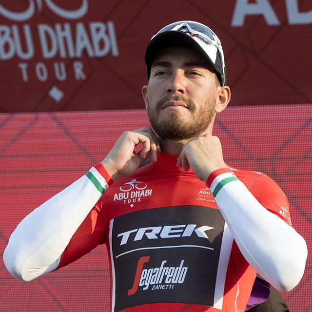 Italian Champion Giacomo Nizzolo was the winner of the first stage in last year's #AbuDhabiTour and the first one to put on the red #CyclingJersey as the leader of the General Classification.  ________________________  #TheCyclingJerseys | #CyclingJerseys | #CyclingKit | #CyclingKits | #BikeKit | #BikeKits | #RoadCycling | #Cycling | #CyclingStyle | #TeamKit |  #LeTour | #Giro | #LaVuelta | #UCI