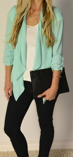 Beautiful color, sleeves give it a really polished look and keep them from looking too long on petites like me!