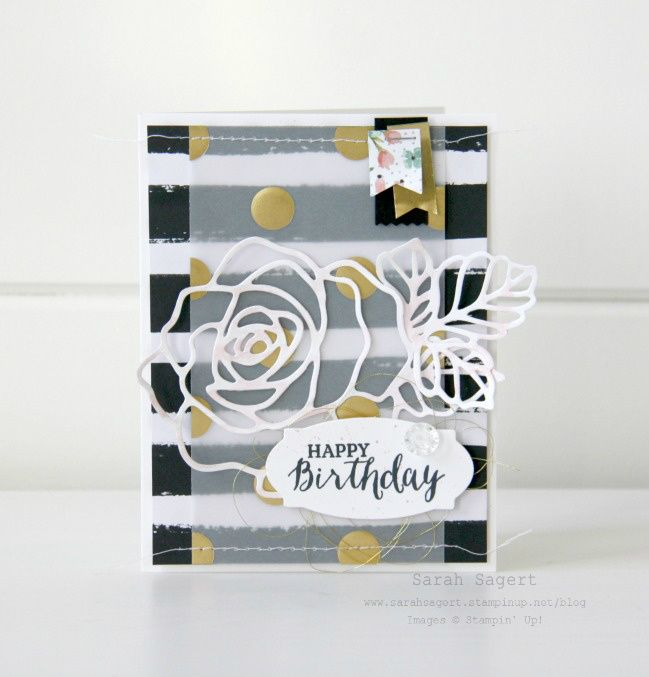 Stampin' Up! - Rose Garden Thinlits - Occasions Catalogue 2016 - Sarah Sagert
