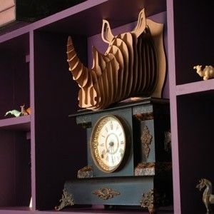 Fabulous!: Decor, Rhino Trophy, Cardboard Safari, Animal Trophy, Kids Spaces, Paper Art, Art Piece, Baby Room, Diy Projects