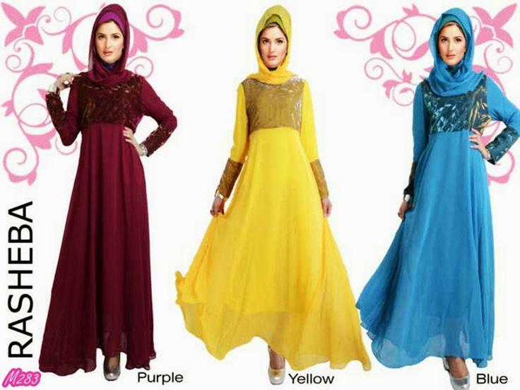 Busana Muslim Gamis Rasheba Kode Baju M283 Harga