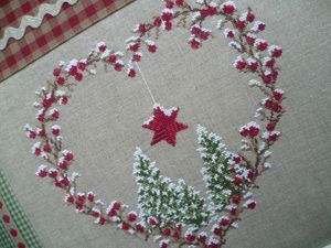 A pretty little cross stitch heart for Christmas.