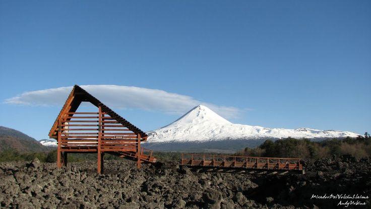 Volcán LLaima desde el mirador
