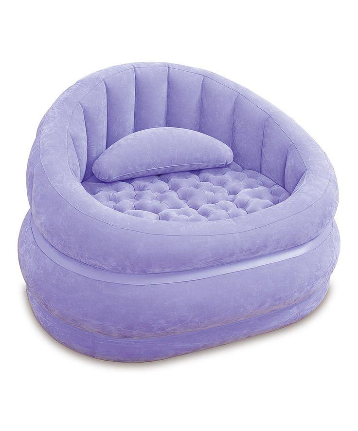 intex purple caf inflatable chair by intex zulilyfinds - Purple Cafe Ideas