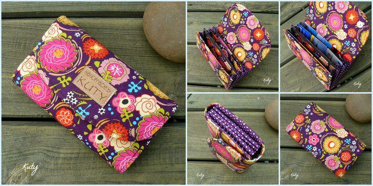 Barvy a styl ...: Květinková peněženka ... klopová na magnetky