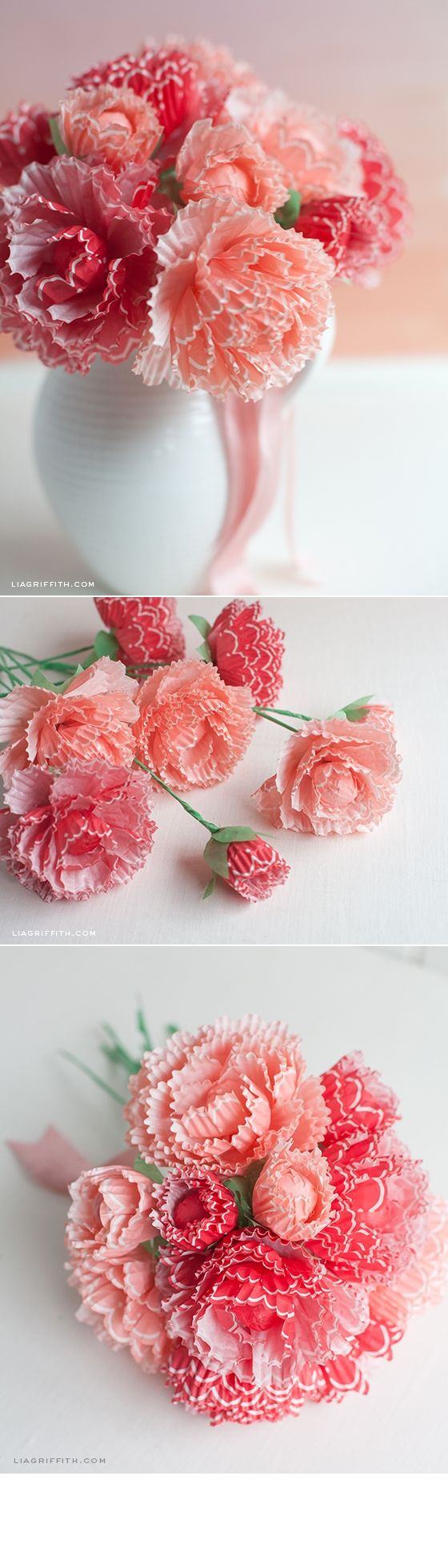 257 best cupcake liner crafts images on pinterest crafts paper peonies from cupcake wraps jeuxipadfo Gallery
