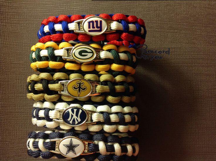 NFL-Paracord Armband-Handgemacht von Paracordforyou auf DaWanda.com