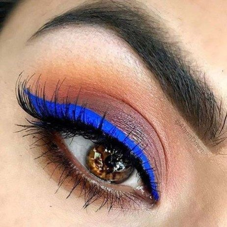 Awesome Blue Eye Makeup Ideas20 #MakeupIdeasWeddin…