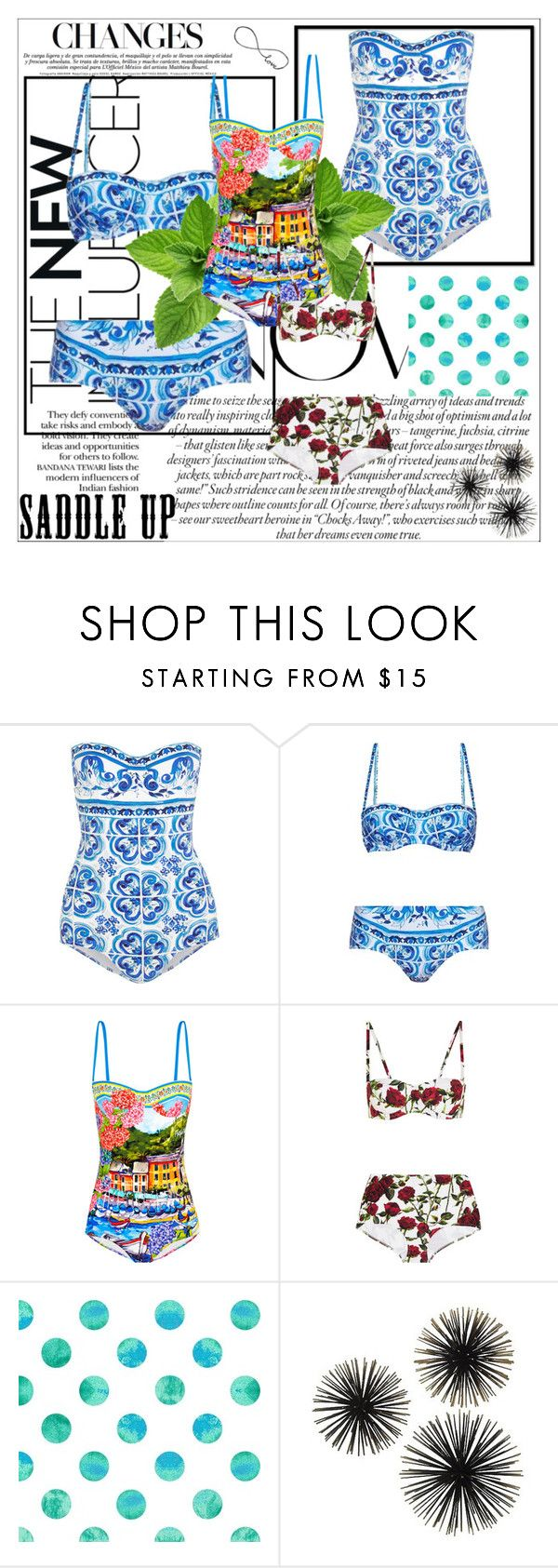 """Dolce & Gabbana swimsuits"" by any-dazaperez ❤ liked on Polyvore featuring Dolce&Gabbana"