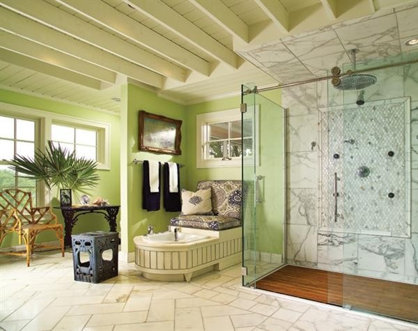 Love the chase lounge with built in foot soaker!: Bathroom Design, Foot Bath, Design Room, Luxury Bathroom, Home Interiors, Interiors Design, Green Bathroom, Tuscan Home, Master Bathroom